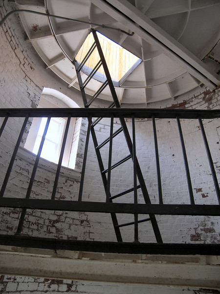 The ladder leading to the lantern room.