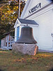 A fog bell passed on the way to the Doubling Point Light Station at the Arrowsic Town Hall. This was re-installed at the Kennebec River Range Light Station after the renovation of the fog bell tower was completed.