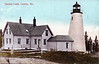Old postcard view of the Dyce Head Lighthouse in Castine, Maine