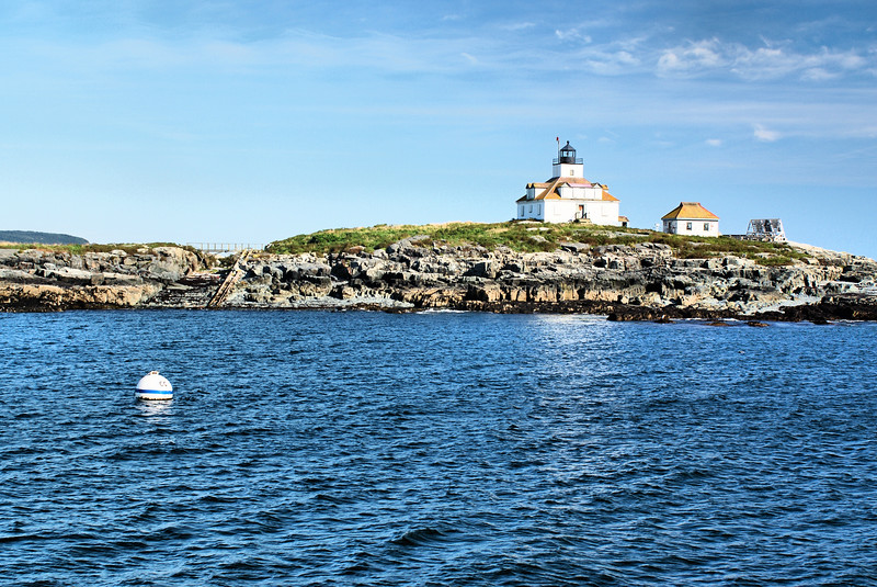 A decision was made by the Coast Guard to automate the station in 1976.  They removed the lantern room so a large aero-beacon could be installed atop the tower.  This resulted in Egg Rock being called 'the ugliest lighthouse in Maine'.  In response to the complaints about its appearance, in 1986 the Coast Guard installed a new aluminum lantern and a modern optic.  In 1999 the station was converted to solar power.