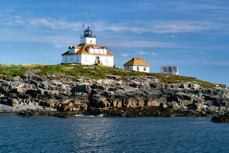 In response to increasing ferry traffic in & out of Bar Harbor during the 1870's, the Light House Board decided to build a lighthouse on Egg Rock.  Congress appropriated $15,000 for the construction of the lighthouse in 1874.