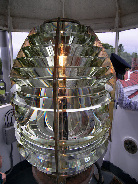 The light source was changed to a 4th Order Fresnel lens 88 feet above sea level which could be seen for 10 miles. The lens was procured from the Henry LePaute Co. in Paris, France.