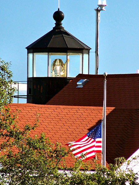 The Fort Point Light Station was one of the last manned stations in Maine, being automated in 1988.