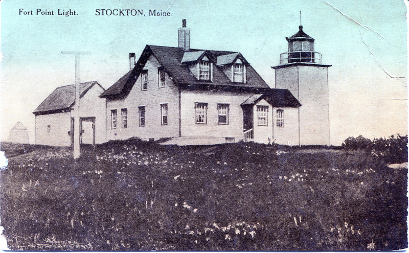 An old postcard view of the Fort Point Light Station