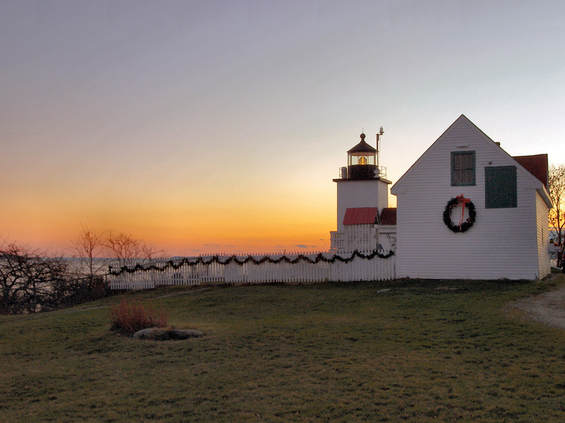 The barn was constructed at the same time as the fog bell tower in 1890. The station consisting of the tower, dwelling, fog bell tower, oil house and barn has all original buildings still standing and serves as a great example of a lighthouse station.