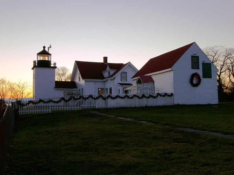 When the 1857 tower was built a 1 1/2 story colonial cape Keepers house was also constructed. This is the dwelling which remains today.