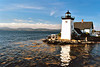 In March 1849 Congress appropriated a sum of $3,500 to establish a lighthouse at Gilkey Harbor.  Land at Grindle Point was purchased for $105 from Francis Grindle.