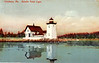 A turn of the century postcard view of the Grindle Point Lighthouse