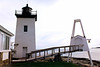 In 1855 as part of the Light House Board's plan to install Fresnel lenses in all U.S. lighthouses, a flashing 4th Order Fresnel lens replaced the oil lamps at Hendricks Head Light.  This change in characteristic was made to differentiate the light from the fixed signal from the nearby Burnt Island Light.