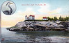 Turn of the century postcard view of the Heron Neck Light, Maine