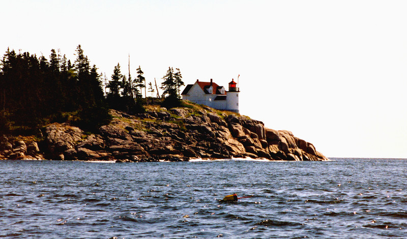 The lantern of the lighthouse was fitted with a Fifth Order Fresnel lens which displayed a fixed red signal 92 feet above sea level.  James Smith of Vinalhaven was named the first Keeper of the Heron Neck Light which he lit up for the first time February 6, 1854.