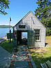 A new station boathouse was built in 1881 on the opposite end of the island from the lighthouse.  Supplies were landed at the boathouse and hauled across a wooden walkway to the tower and Keepers house.