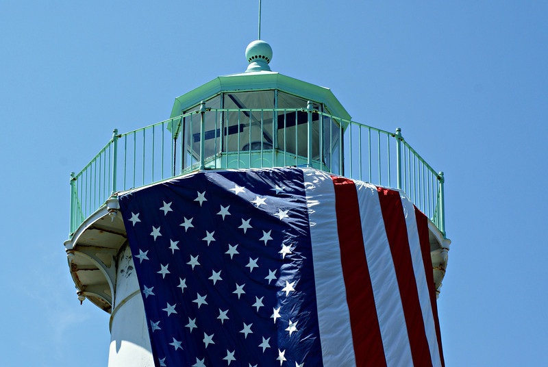 The lantern of the Little River Lighthouse was equipped with seven oil lamps and reflectors.  The first Keeper of the light was Elijah Shiverick who served until 1853.