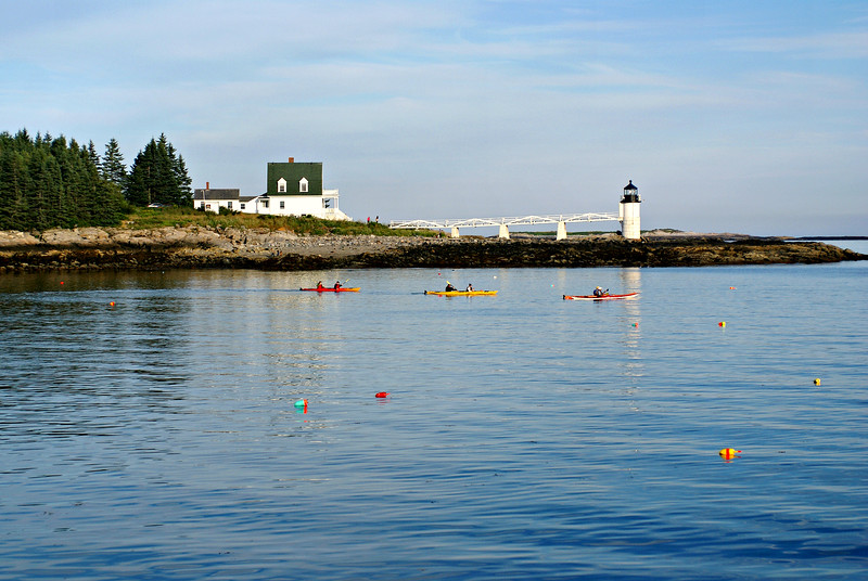 In 1935 an electric light was installed in the tower replacing the kerosene lamp.  The oil lamp was used as a backup in case of electrical failure.  When the Coast Guard took over the Lighthouse Service in 1939 Charles Allen was serving as the Keeper at Marshall Point.  He elected to transfer and became the first Coast Guard Keeper at Marshall Point.  Allen continued to serve as Keeper until 1946.