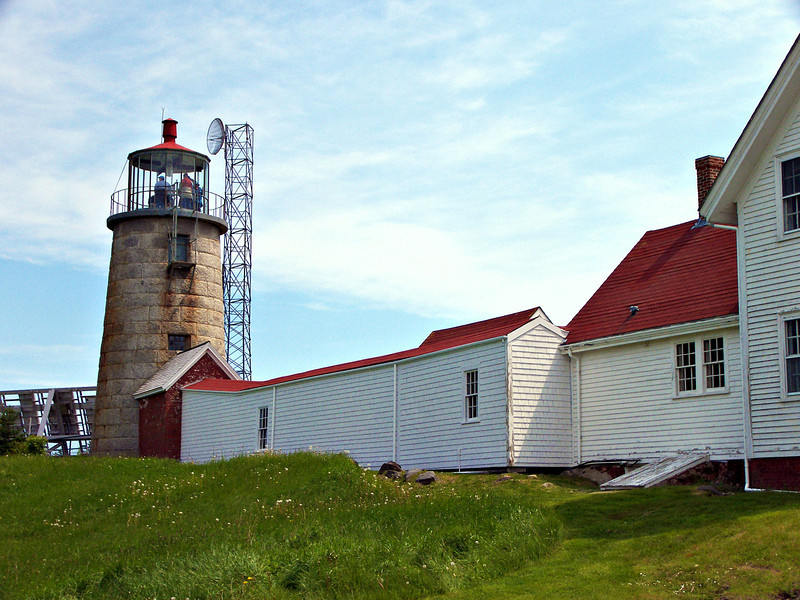 In 1892 a 10 by 12 foot brick service room was built onto the entrance to the lighthouse tower. The service room would hold the keepers tools and supplies. In 1893 a brick oil house was built to hold the kerosene fuel for the lantern.