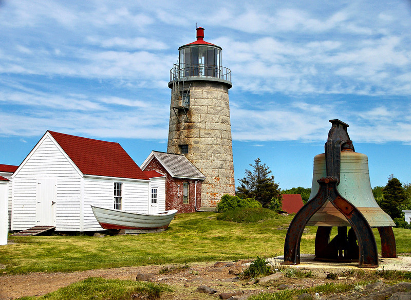 Monhegan Island Light Station was placed on the National Register of Historic Places on May 7, 1980.  In 1995 the Coast Guard installed a VRB-25 optic in the lantern.  A solar array to power the optic was erected on the ground just east of the tower.