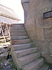 The stairs to the tower entryway