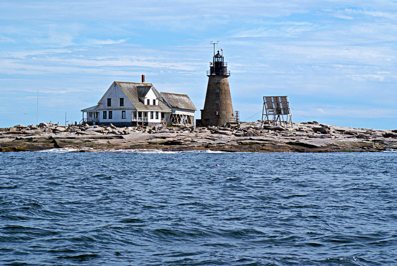 Located at a point where shipping would steer for anchorage in either Frenchman's Bay or Blue Hill Bay, Mount Desert Rock was recognized early as an important place to be marked for safe navigation.   Congress appropriated $5,000 to build a lighthouse in 1829 and a building contract was awarded to Gamaliel E. Smith.