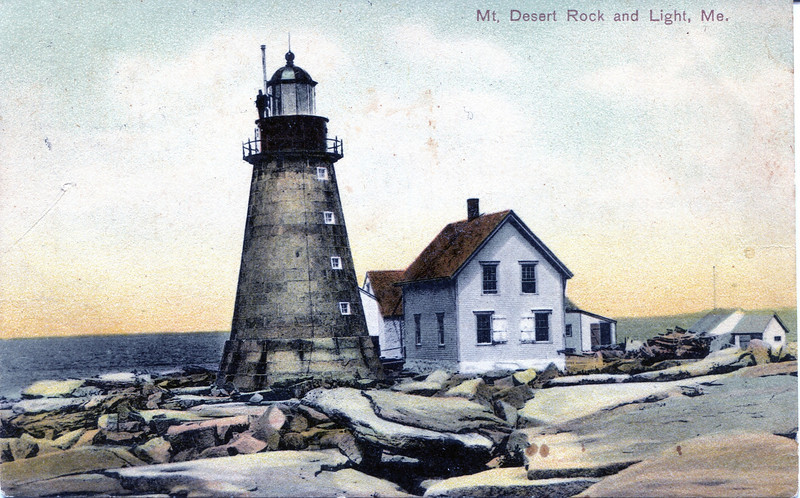 A turn of the century view of the Mount Desert Rock Light Station