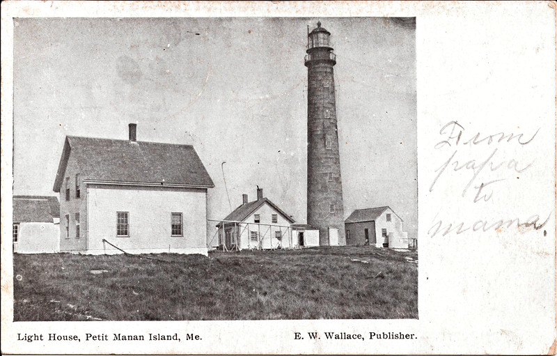 Old postcard of the Petit Manan Lighthouse