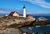 In the late 18th century the seafaring town of Portland petitioned the Massachusetts legislature to erect a lighthouse to mark their harbor.  Maine was part of Massachusetts at this time.  In 1787 the legislature put aside $750 to begin the construction of the lighthouse.