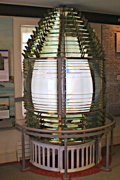 Following a wreck in 1864 the tower was raised an additional 20 feet and a 2nd Order Fresnel lens replaced the original lens to provide better visibility.  This did not last however, by 1883 the extension was removed and a new lantern and 4th Order lens were installed.  Two years later the Light House Board reversed itself again and raised the tower to its current height of 101 feet and reinstalled the 2nd Order lens.