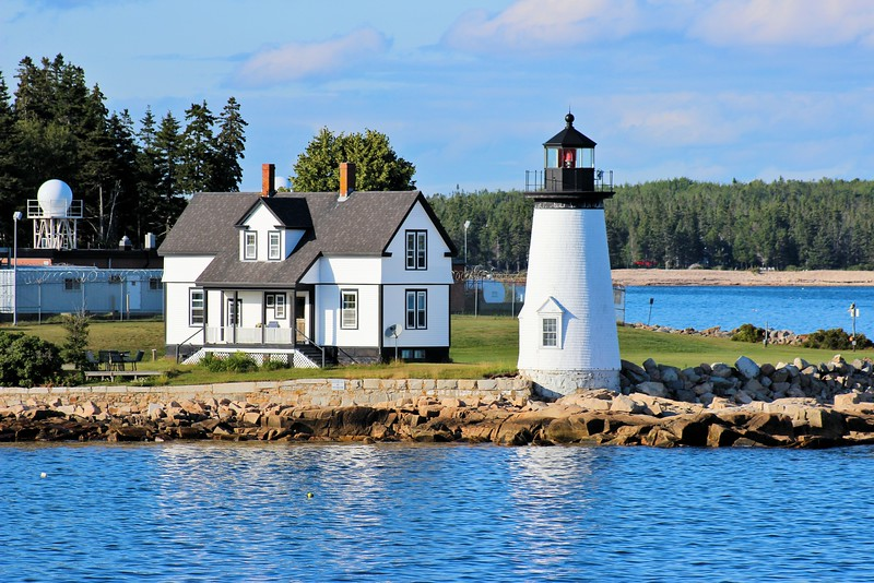 Construction of the lighthouse began in 1850 after a 3 year delay.  The site chosen for the light was Prospect Harbor Point on the eastern side of the harbor.