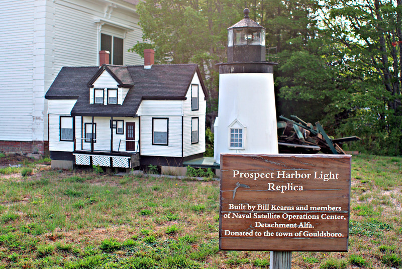 **A model of the light station on the lawn of a local church** Upon automation of the lighthouse John Workman was hired to serve as the live-in caretaker of the lighthouse property.  He was paid a salary of $25 per month and he paid $1 per month as rent.