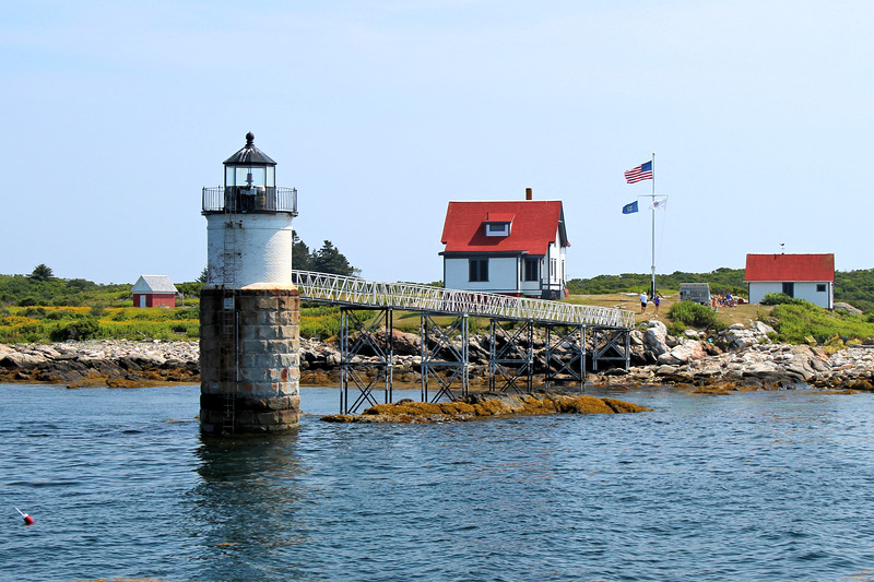 Finally in August 1882 Congress appropriated $25,000 to establish a government light station on Ram Island.  Building materials were landed on the island during the fall and winter.  Construction began in the spring of 1883.