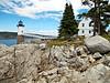 In 1907 Congress appropriated $14,000 for the building of the lighthouse and a fog bell.  Land was purchased from Charles Robinson at Robinson's Point.  The light tower was the last traditional lighthouse to be built in Maine.