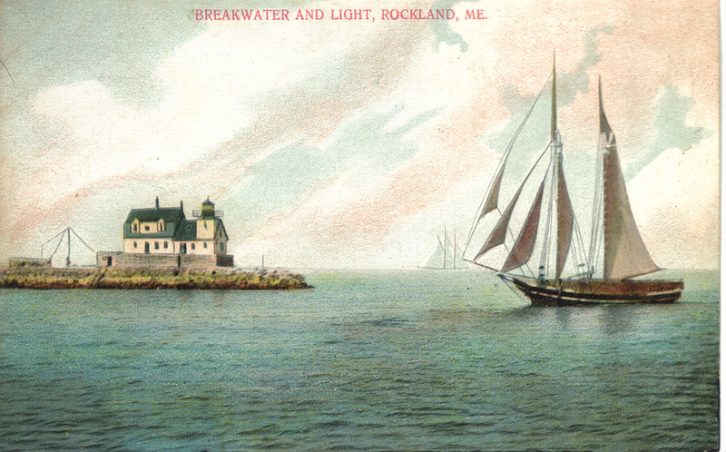 An old postcard view of the light at the turn of the century.