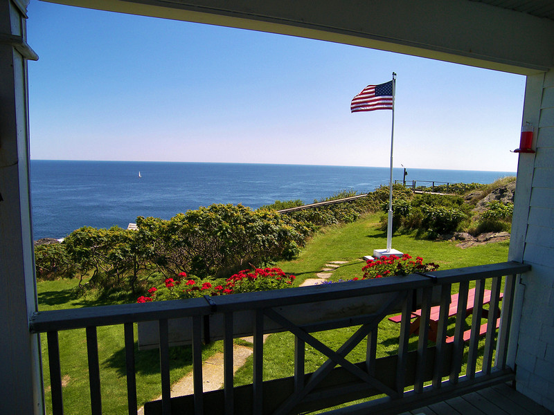 The view from the front porch of the Keepers House. The keeper and his family spent many hours enjoying this view from this porch over the ocean.
