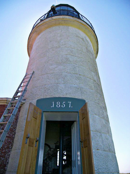 The entrance to the lighthouse tower.