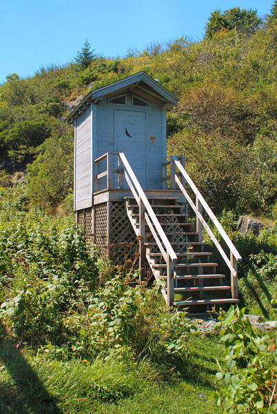 The lighthouse keepers elevated outdoor outhouse is the next thing you see climbing up towards the light.