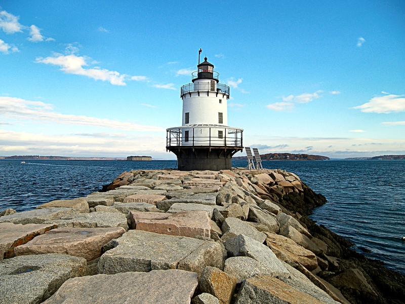As ferry service to Portland increased and ships became larger in the late 1800's seven steamship companies sent a request to the Lighthouse Board for a light to be placed on Spring Point Ledge.