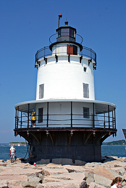 On May 1, 1934 an underwater electric cable was laid to supply power the lighthouse and the light was electrified.  A second cable was laid from Spring Point Ledge Light to the Portland Breakwater Light a mile away.  After electrification the Breakwater Light was monitored by the Spring Point Ledge keepers.