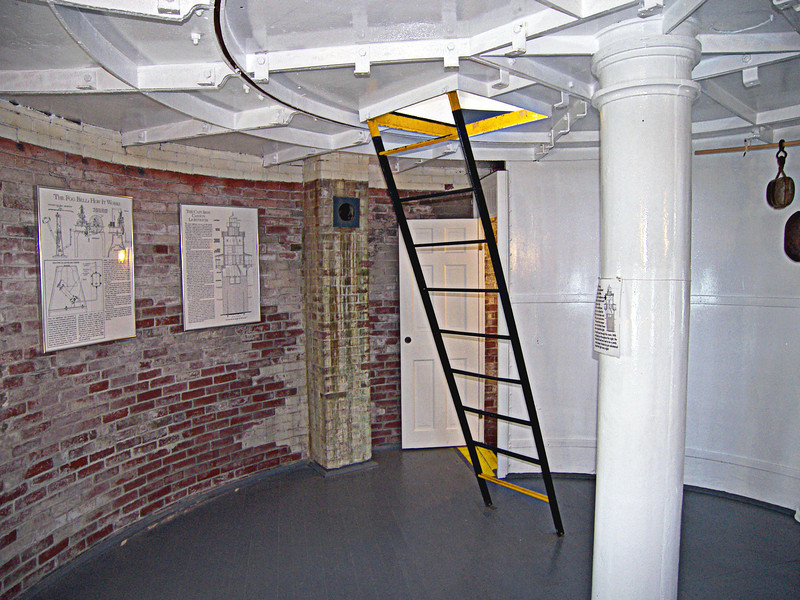The fourth floor of the tower served as the Assistant Keepers bedroom.  The watch room was accessed from this room via an iron ladder.