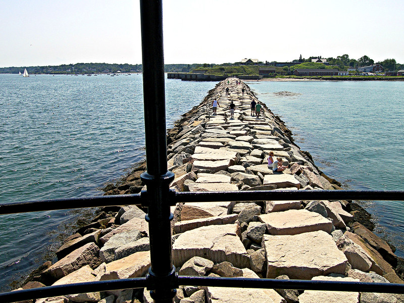 In April 1898 Portland harbor was mined due to the outbreak of the Spanish American War.  Spring Point Ledge and Portland Head Lights were kept dark until July 1898.
