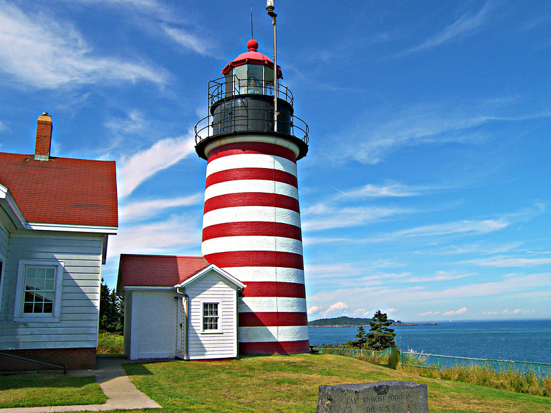 A 3rd Order fixed Fresnel lens manufactured by L. Sautter of Paris was installed in the lantern of the new tower.  The same lens remains in the tower today and is the only 3rd Order lens still in use in Maine.