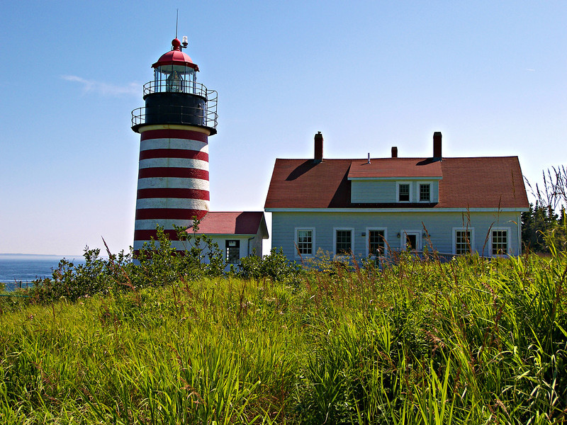 Massachusetts ceded 100 acres of land on Quoddy Head (Maine did not become a separate state until 1820) to the federal government who contracted with Benjamin Beal and Duncan Thaxter to build a wooden tower.