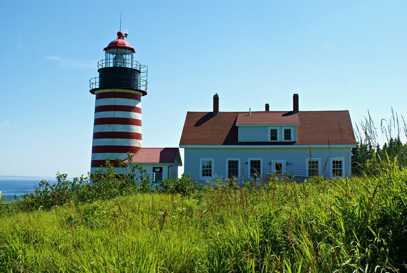 In the 1850's the United States began installing Fresnel lenses at its lighthouses and rebuilding some of the towers.  In 1856 $15,000 was appropriated for rebuilding the West Quoddy Head Light.