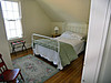 An upstairs bedroom in the Keepers House.