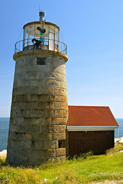 The 1831 tower lasted until 1852 when the Lighthouse Board authorized the building of the current 41 foot granite tower. The tower was attached to a red brick service room. In 1857 the tower received a Third Order Fresnel lens.