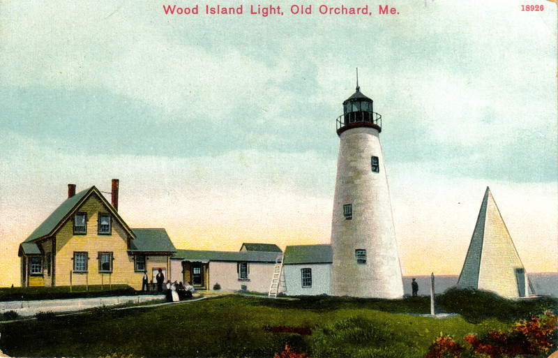 A turn of the century view of Wood Island Light Station from an old postcard