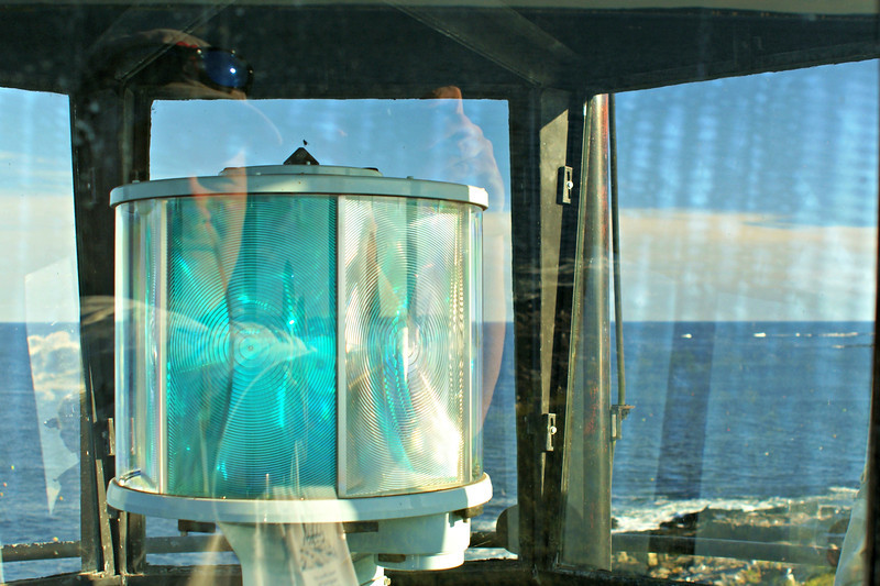 In 1972 the Fresnel lens was removed and rotating aerobeacon replaced the optic. More importantly, the lantern was removed resulting in a 'headless' lighthouse. This did not sit well with the locals. Due to numerous complaints a new aluminum lantern was fabricated and installed in 1986.  An LED light was installed in the lantern in 2012.