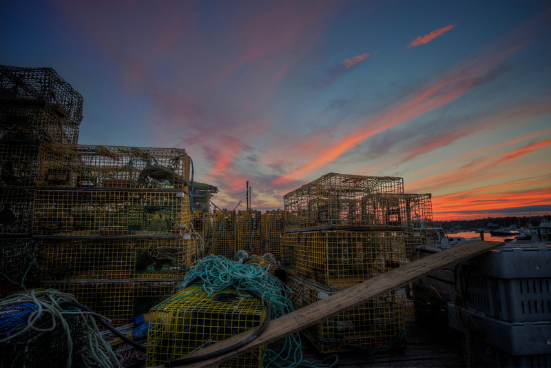 Boothbay Harbor Lobster Traps, August 25, 2012, 7:50 pm