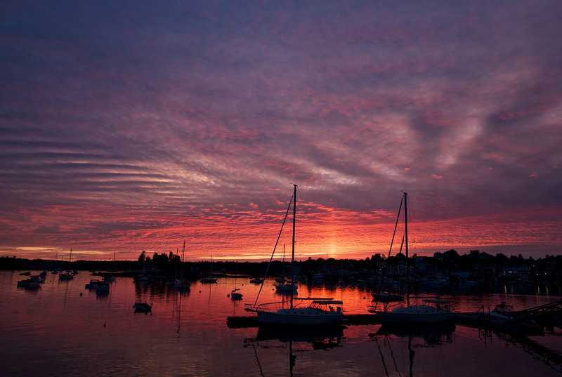 Boothbay Harbor, Maine, August 19, 2011, 8:00 pm<br /> <br /> A spectacular orange sunset