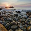 Sunrise at Boulder Beach, Acadia National Park, Maine, August 17, 2015, 5:49 am