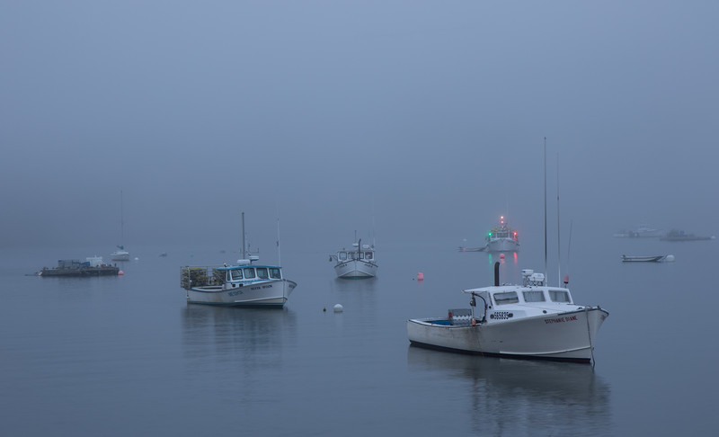 Bar Harbor,  Maine, Morning Fog, August 15, 2016