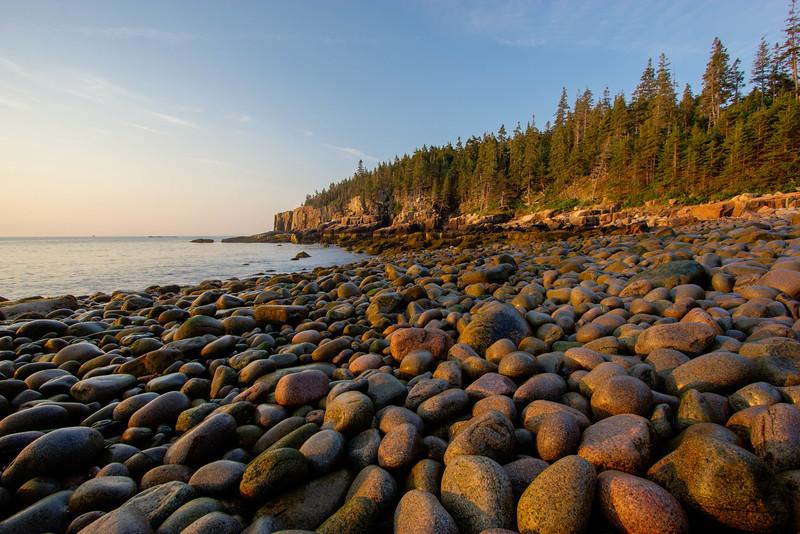 Sunrise at Boulder Beach, Acadia National Park, Maine, August 17, 2015, 6:23 am